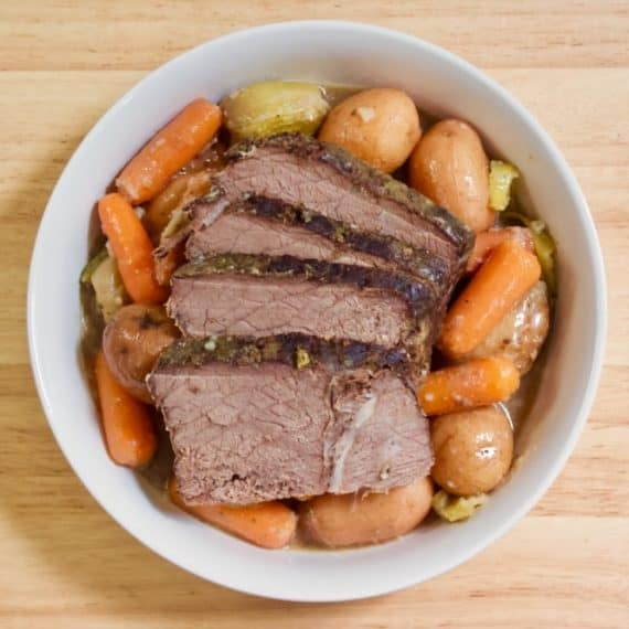 Quick, Easy Dinner with meat and vegetables