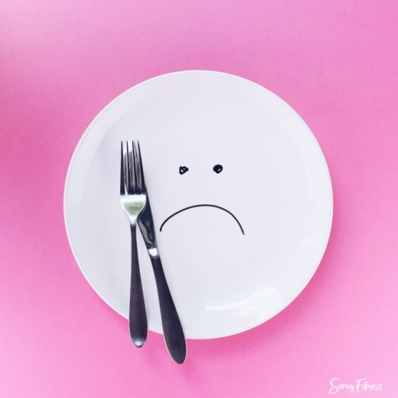 frowny face plate because you're hungry on nutrtisystem