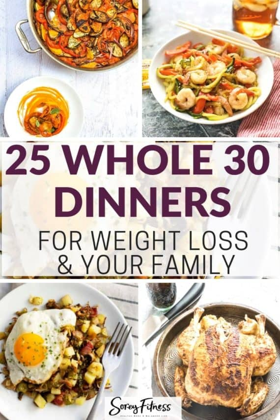whole 30 dinners in a collage