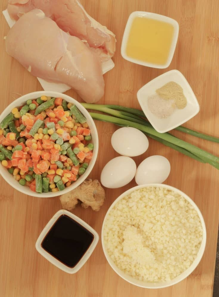 cauliflower chicken fried rice ingredients