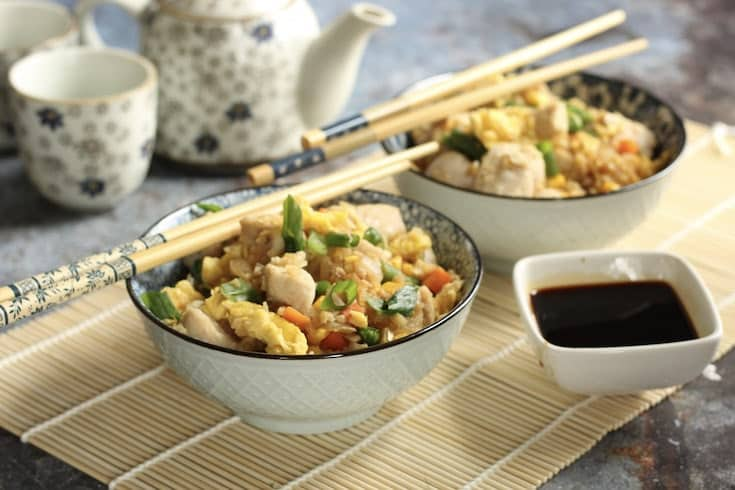 Cauliflower Chicken Fried Rice Recipe – Whole 30 Friendly & Better than Takeout!
