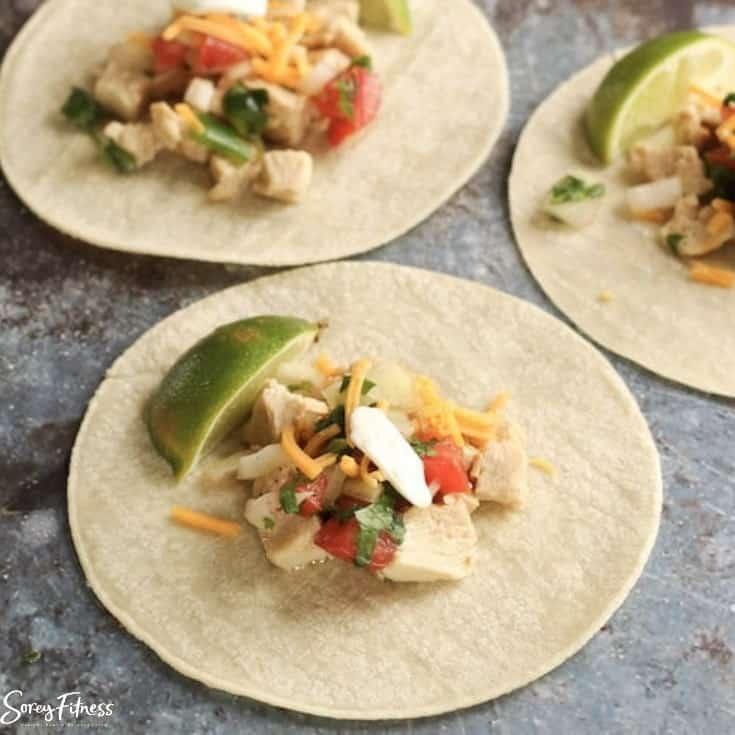 healthy chicken street tacos