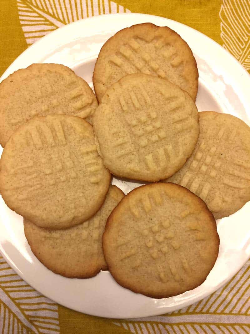 a plate of keto butter cookies