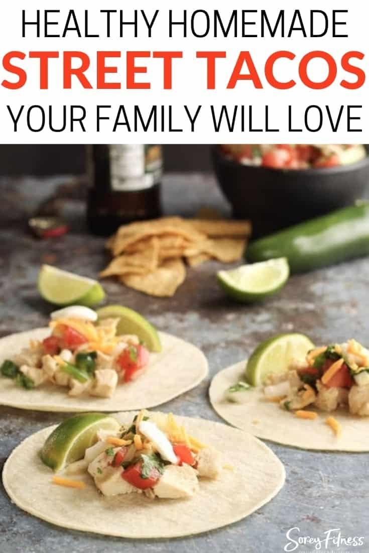healthy chicken street tacos recipe