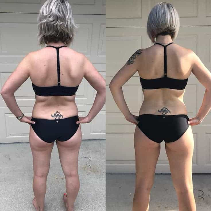 Before and After back side