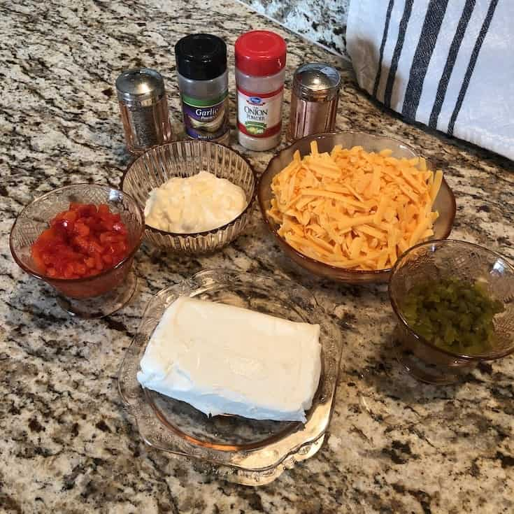 Ingredients Used to Make Our Keto Pimento Cheese Recipe