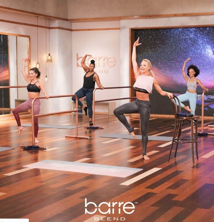 Elise doing Barre Blend