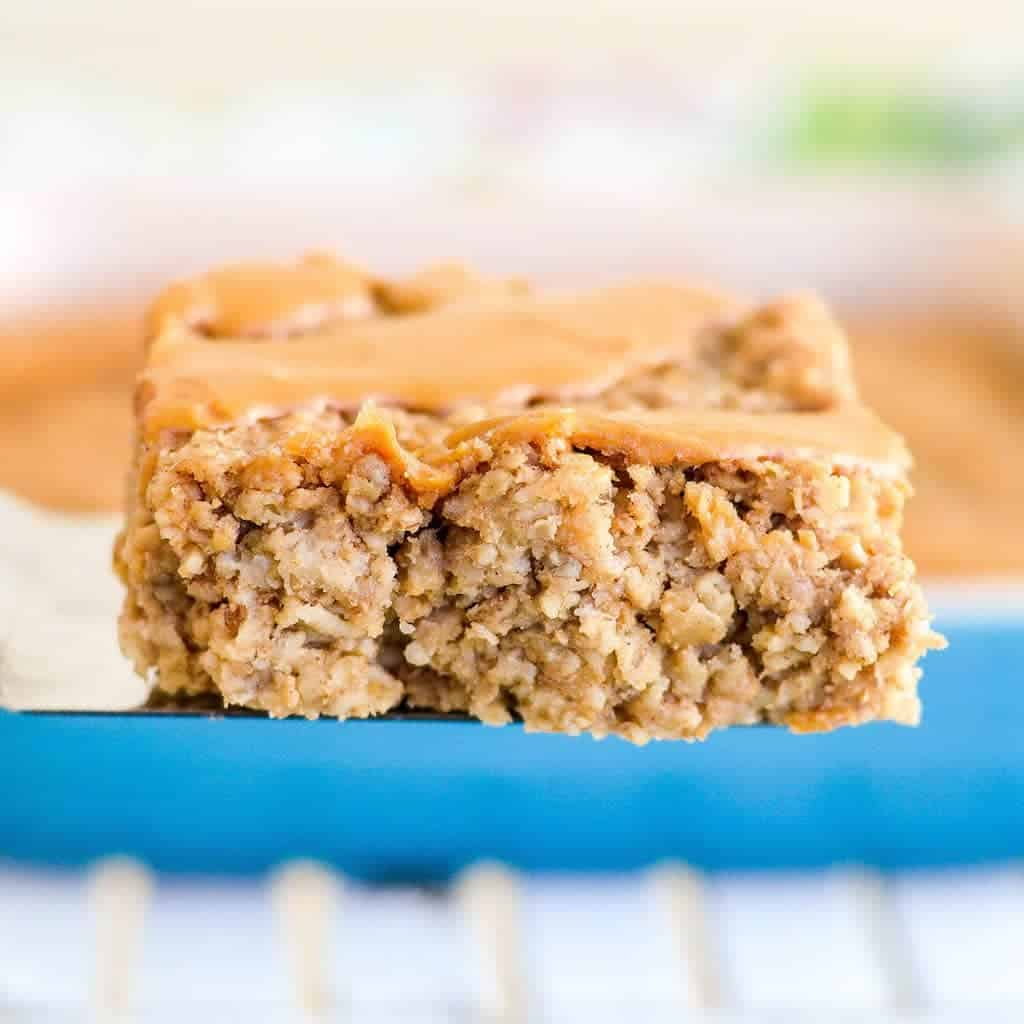 make ahead oatmeal squares as a part of healthy breakfasts for kids before school