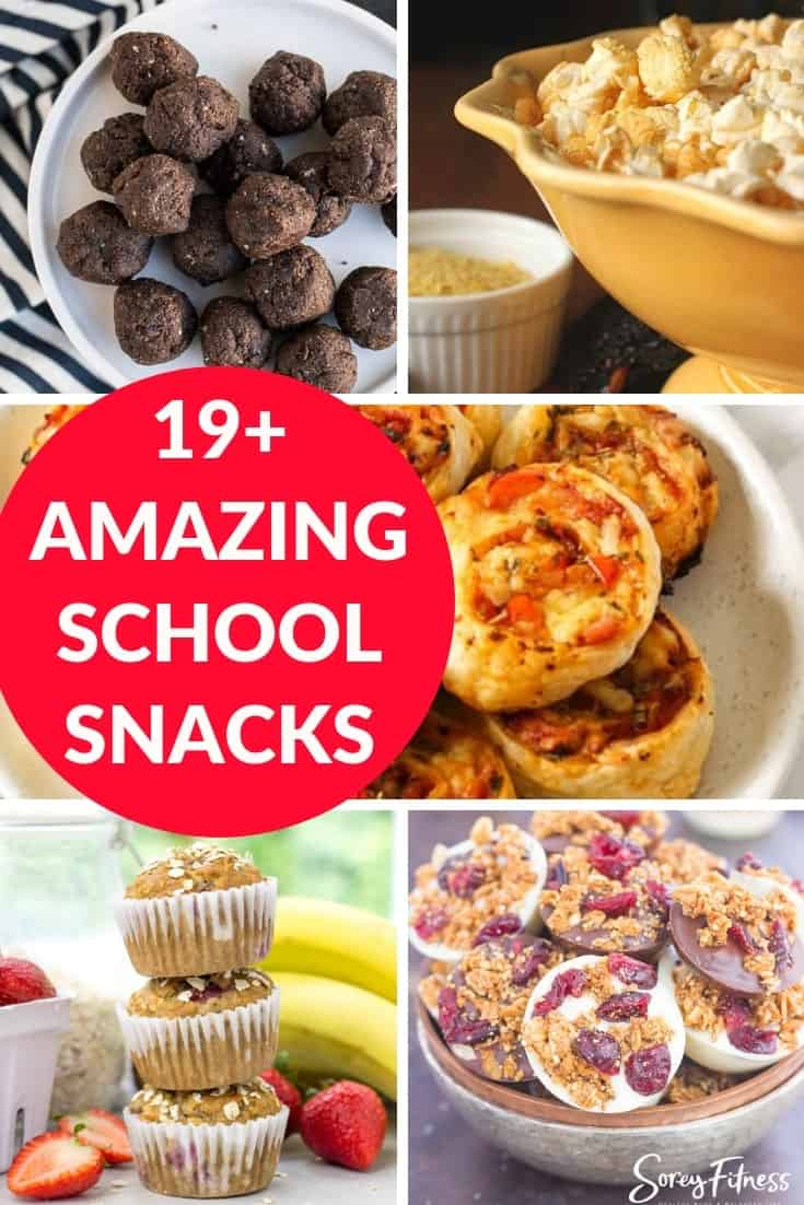 best afternoon snacks for school