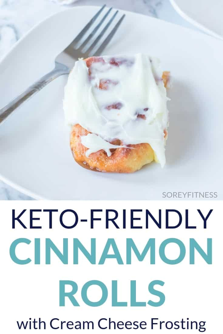one keto Cinnamon roll with cream cheese frosting recipe