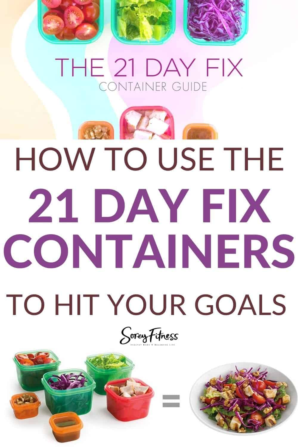 how to use the 21 day fix containers to hit your goals