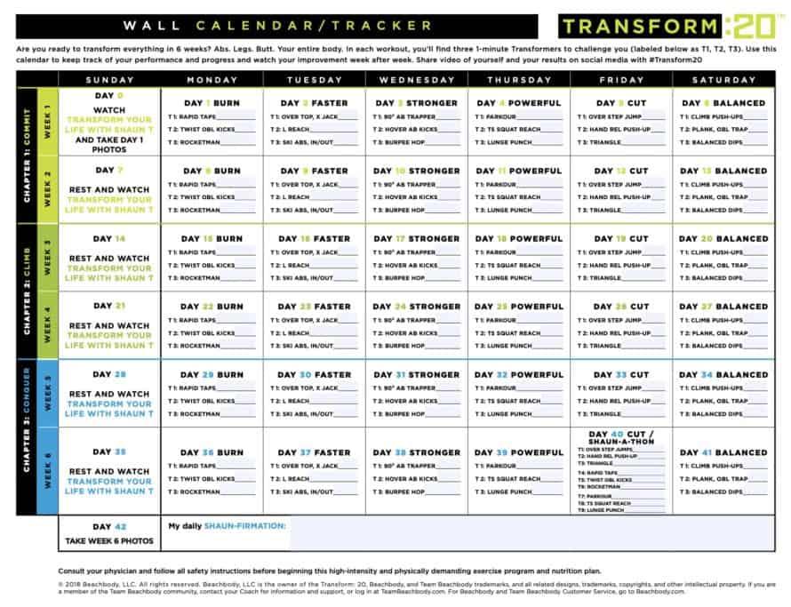 Transform 20 Wall Calendar
