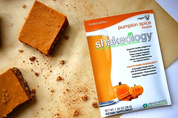 Pumpkin Spice Shakeology Bites Recipe