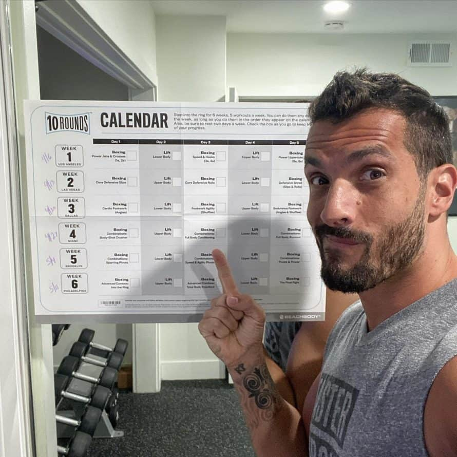 Joel with the 10 Rounds Workout Schedule