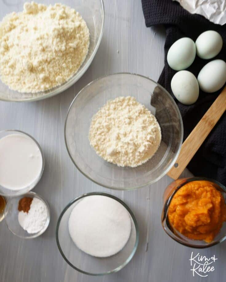 Ingredients Needed to Make Keto Pumpkin Bread