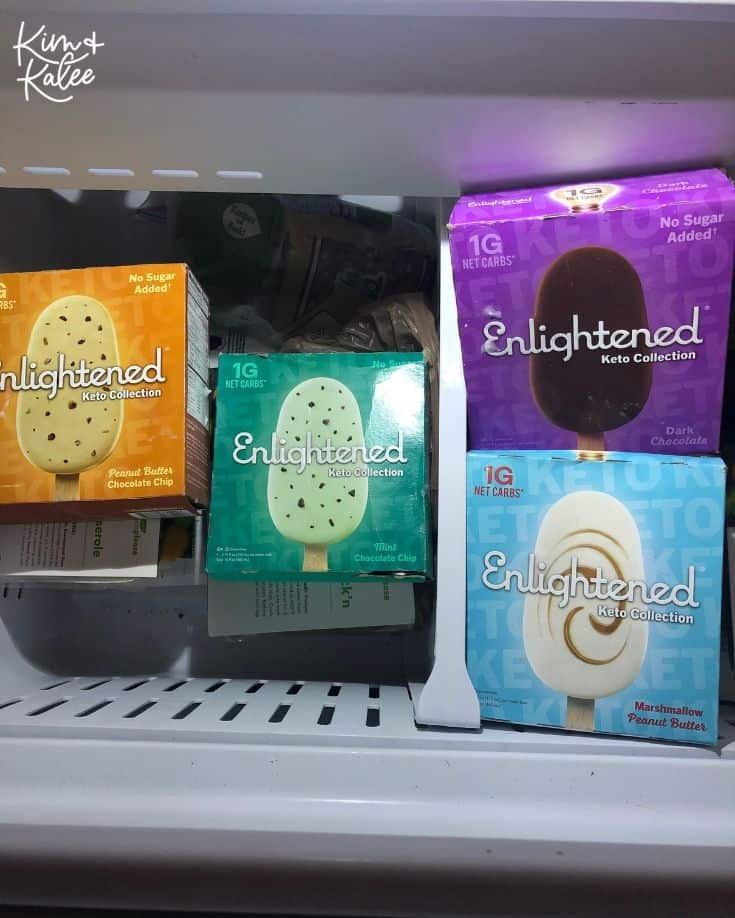 Enlightened Keto Ice Cream Bars in Freezer