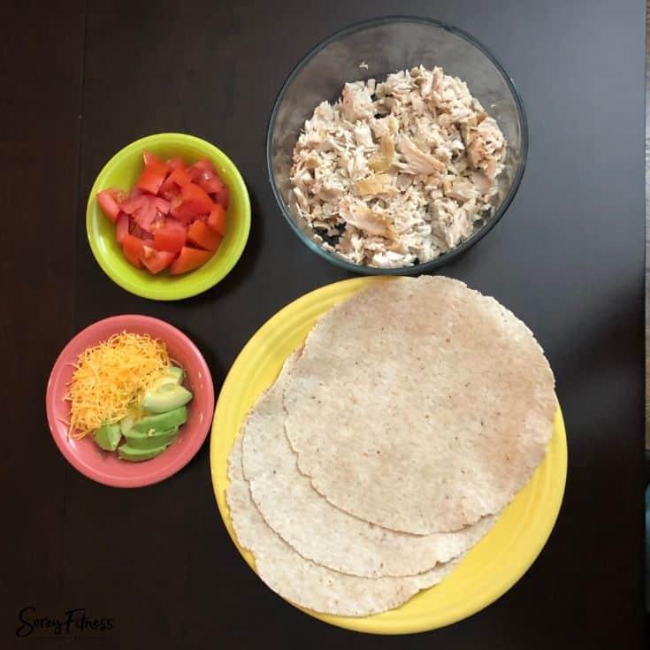 Crockpot Healthy Chicken Tacos
