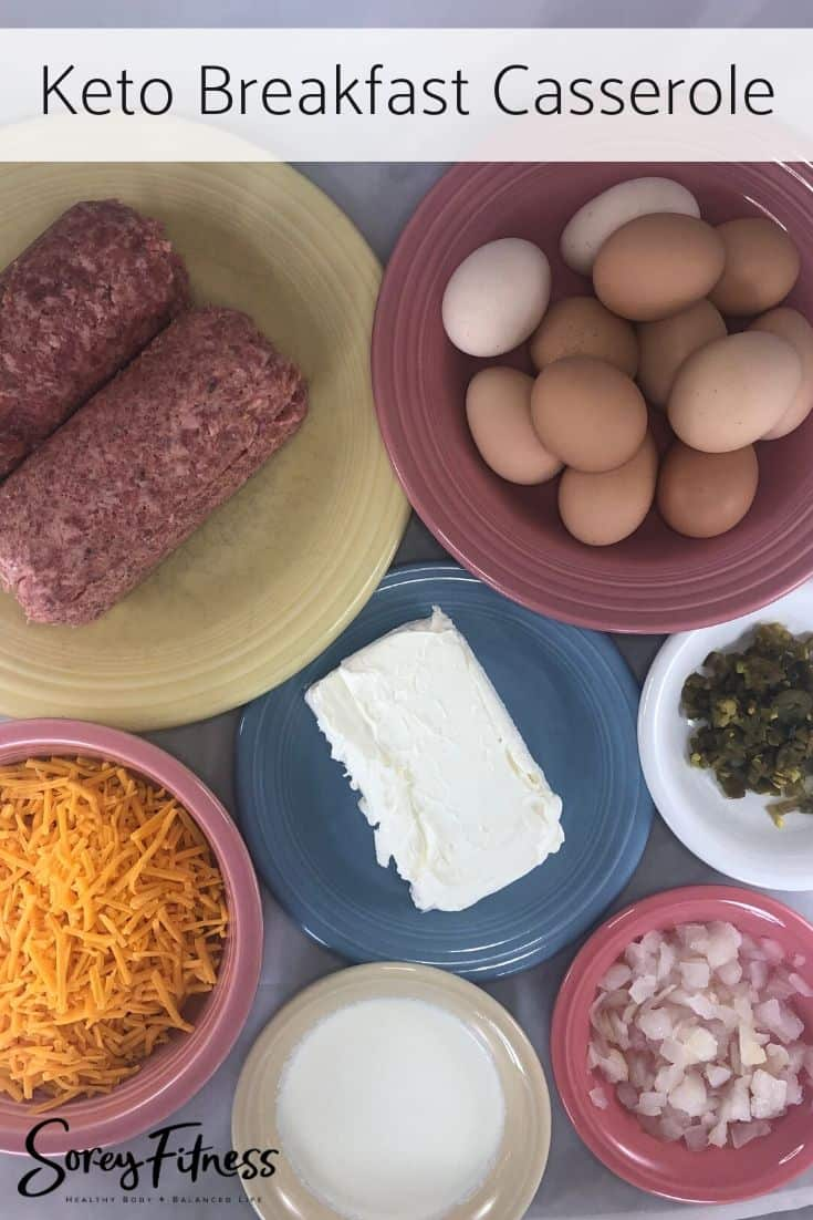 Keto Breakfast Casserole Ingredients