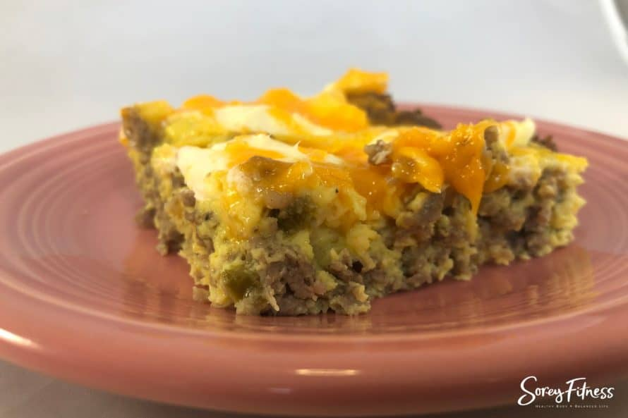 Make ahead Keto Breakfast Casserole with Sausage and Cream Cheese