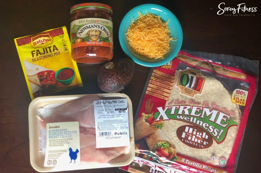Ingredients for crockpot taco chicken meat