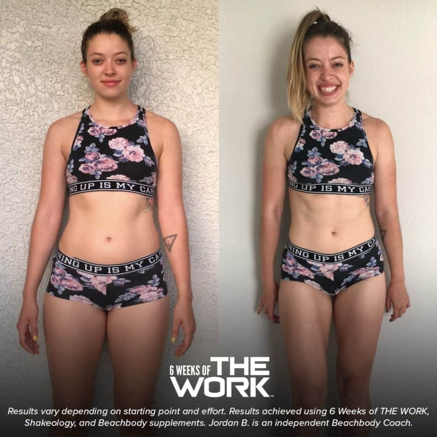 6 weeks of the work before and after