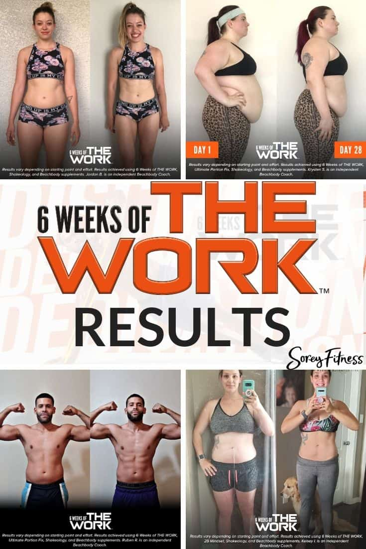 6 weeks of the work before and after photos