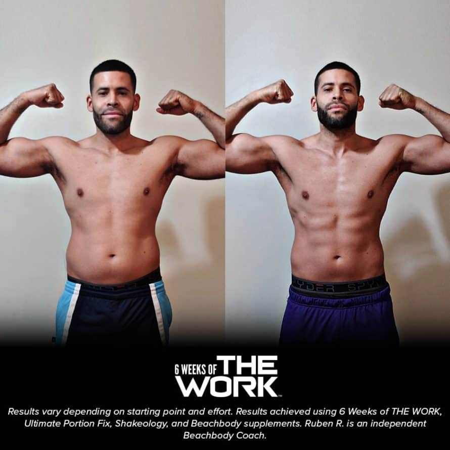 A Man's Before and After Photo from The Work workouts