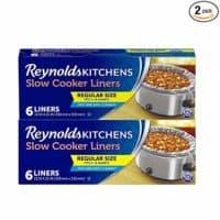 Reynolds Regular Size Slow Cooker Liner, 12 Count, Black