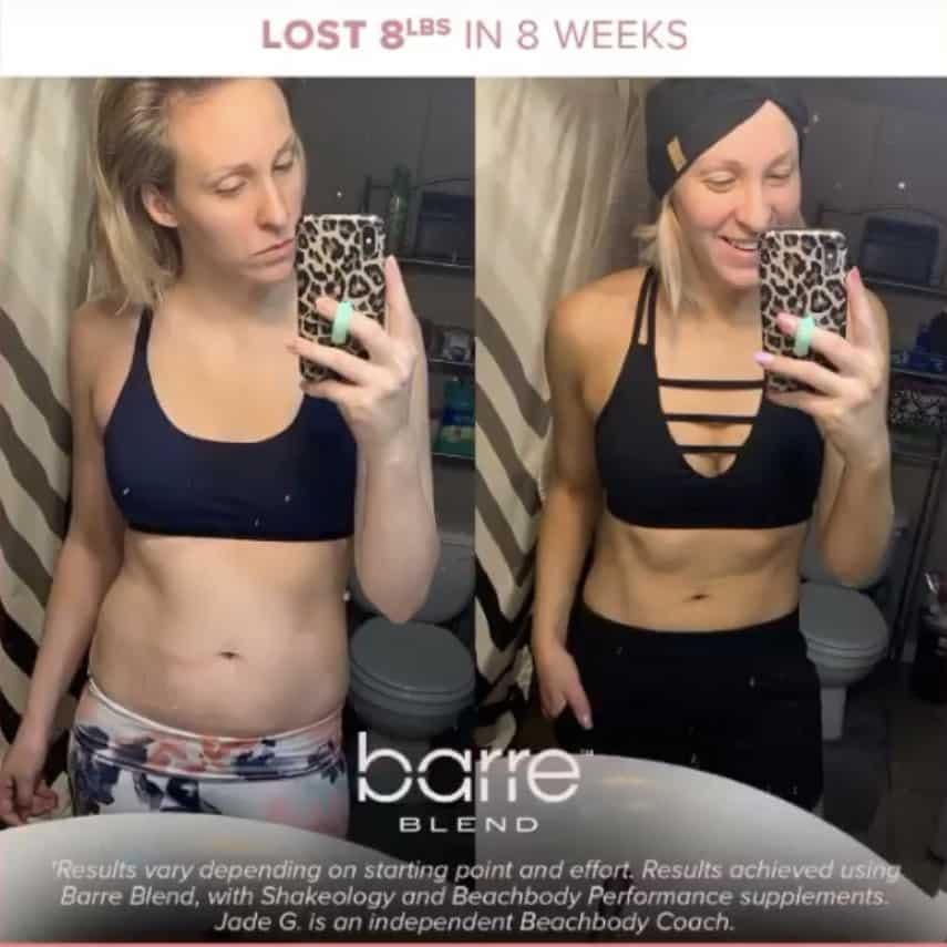 She Lost 8lbs in 8 Weeks Side by Side Photo
