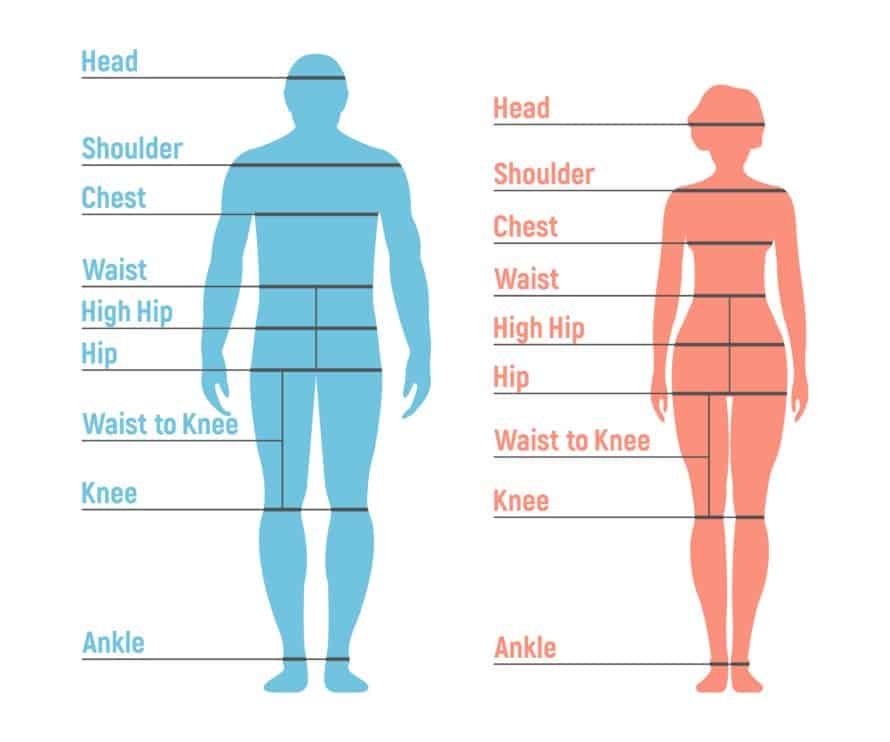 Printable Body Measurement Chart for Men and Women