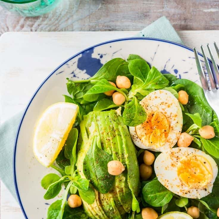 Fresh Garden Salad with Eggs are apart of our Keto Diet Plan.