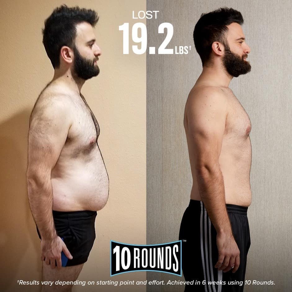 Man's 10 Rounds Before and After Pictures