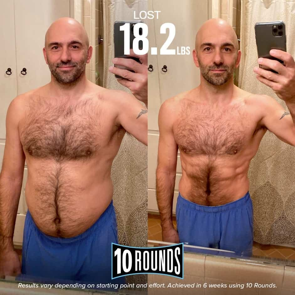 Man's 10 Rounds Before and After photos