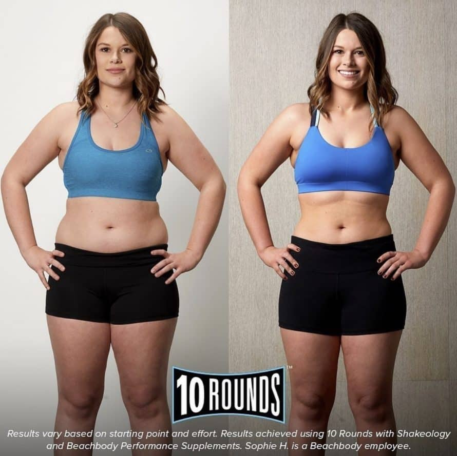 woman's 10 rounds before and after photos