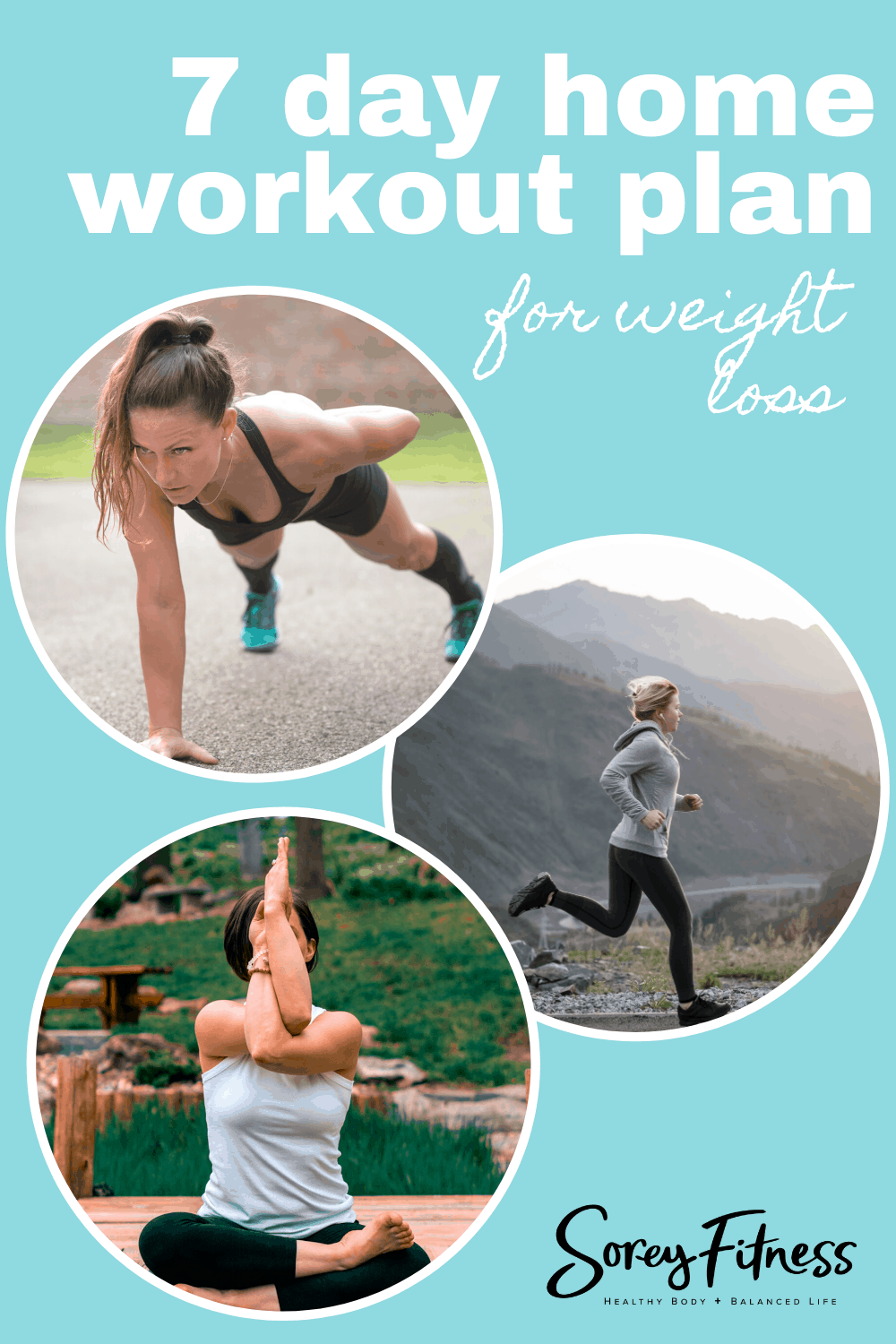 fitness image collage for home workout plan