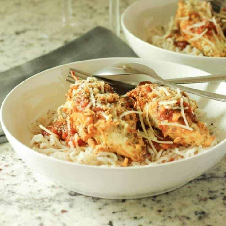 Keto Air Fryer Chicken Parmesan for 2 – Ready in 20 Minutes or Less!