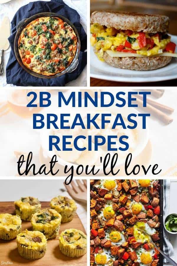 2b mindset breakfast recipes collage