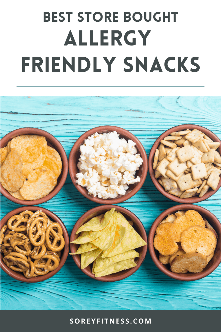 snacks on a blue table with text overlay