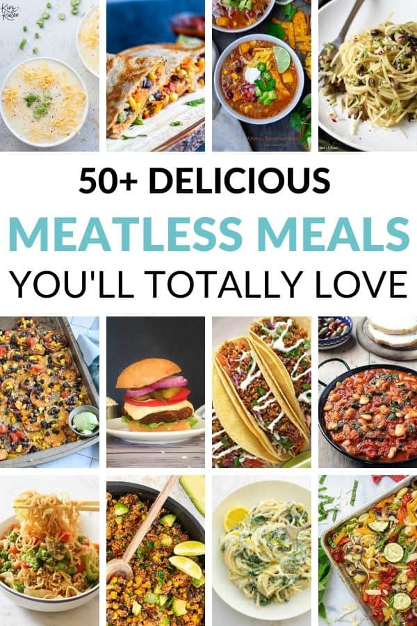 Collage of 12 Meatless Meals