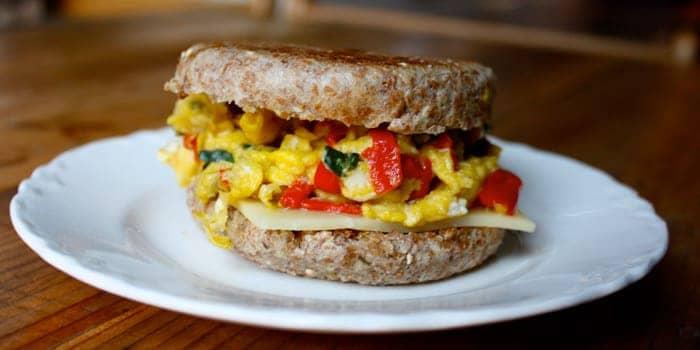 2b mindset breakfast sandwich