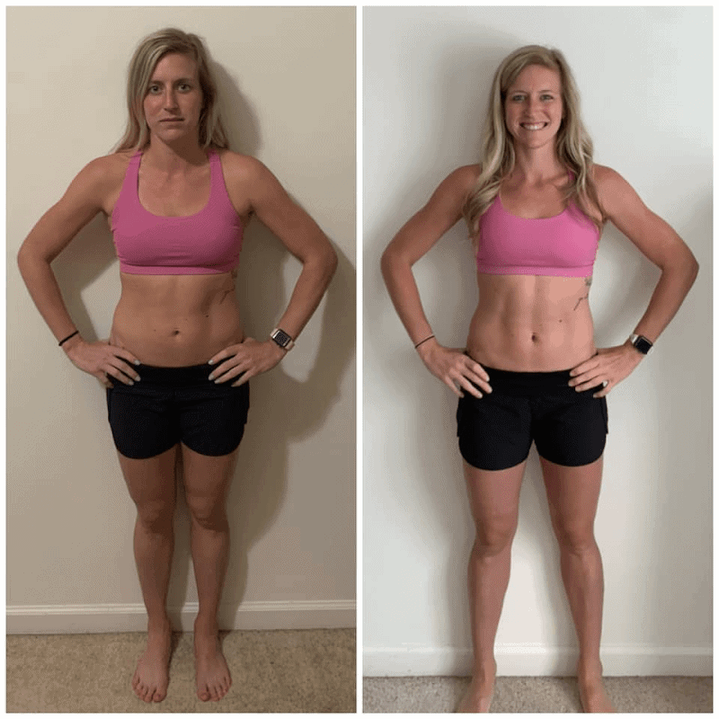 Muscle Burns Fat Before and After Photo
