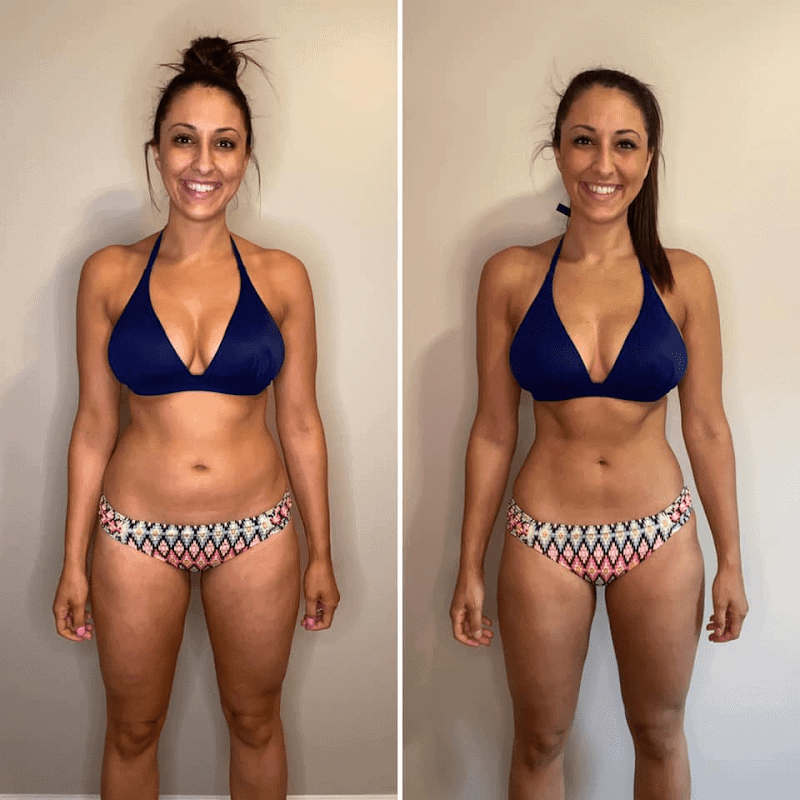 Muscle Burns Fat Before and After Photo Woman