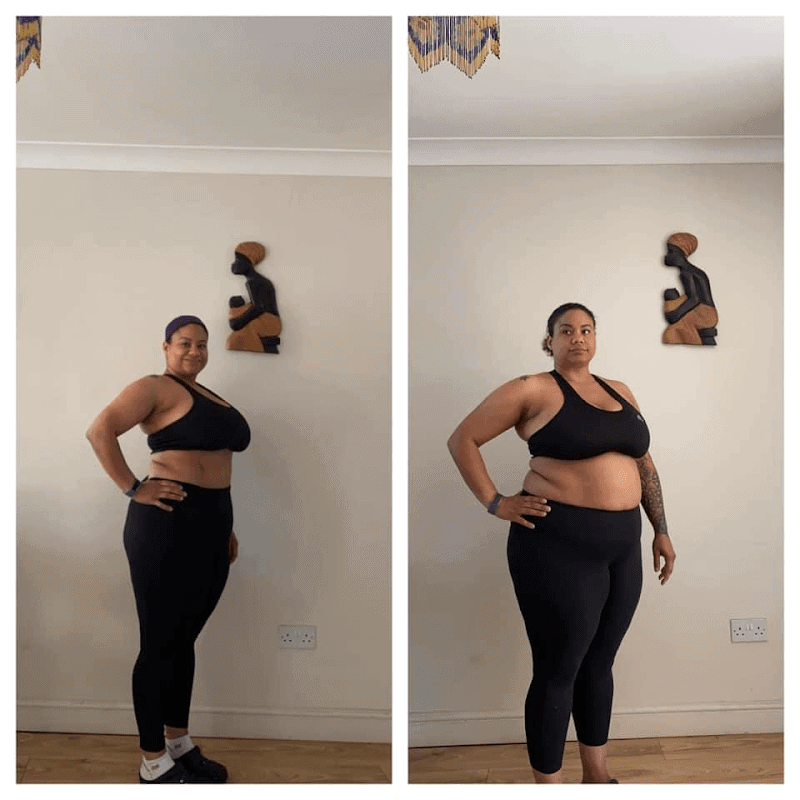 woman's Muscle Burns Fat results