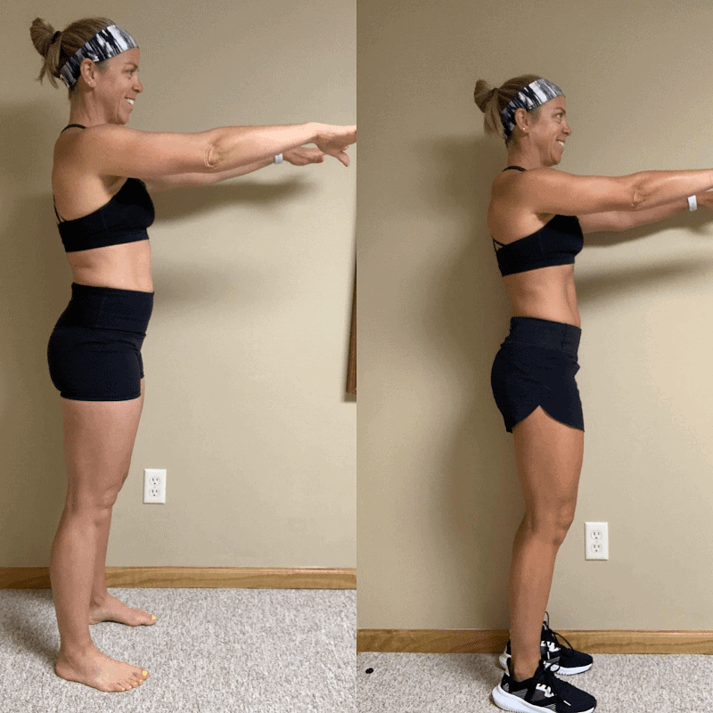 Muscle Burns Fat before and after photo from the side