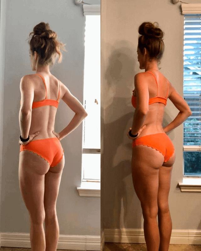 Muscle Burns Fat Butt Results in a Bikini