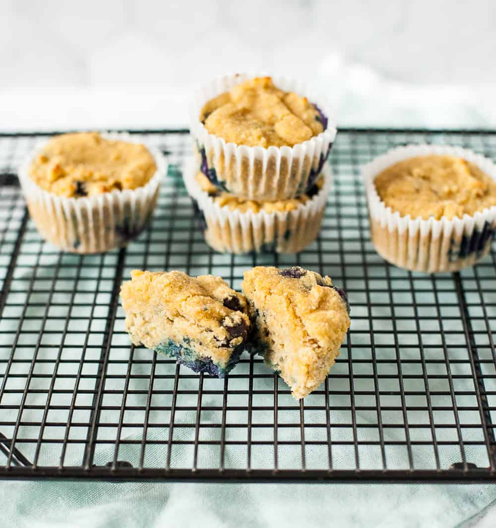 coconut flour muffins on cooling rack