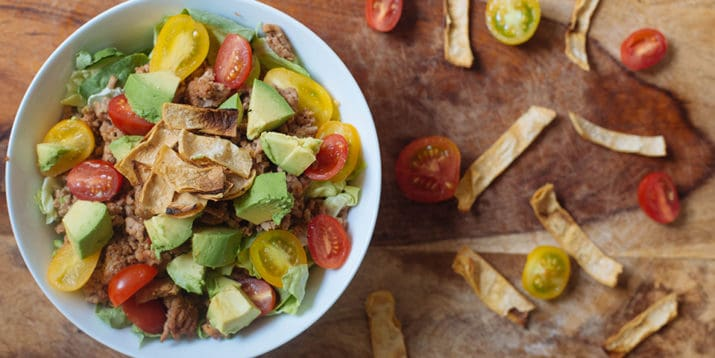 2b mindset taco salad recipe for lunch