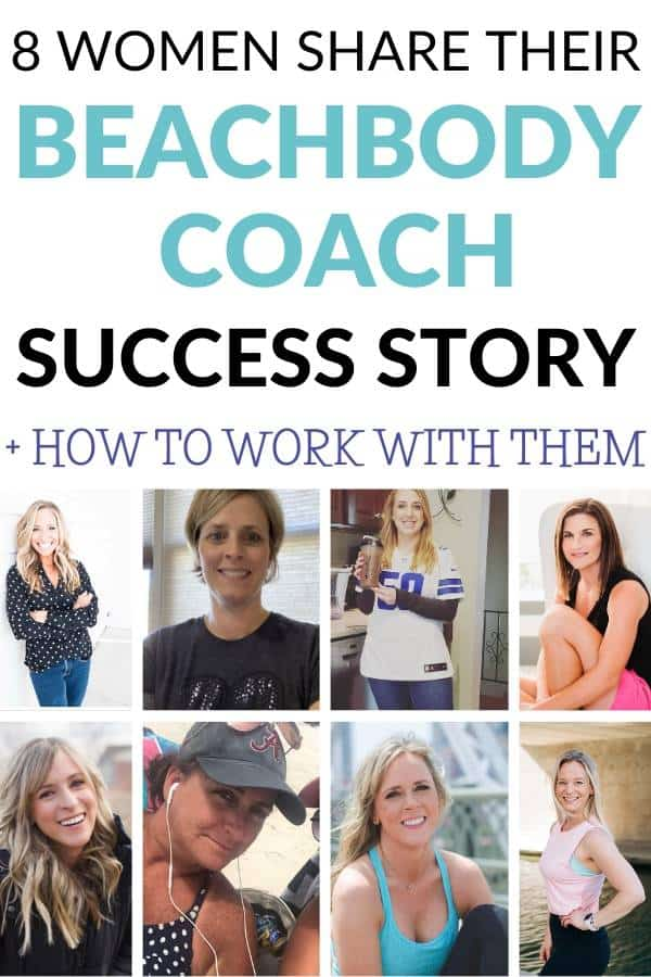 Collage of 8 Women who share their Beachbody Coach success stories on Sorey Fitness