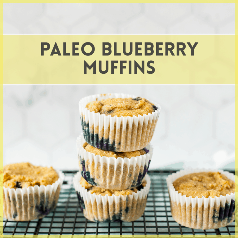 Best Paleo Blueberry Muffins (Easy No Almond Flour Recipe!)