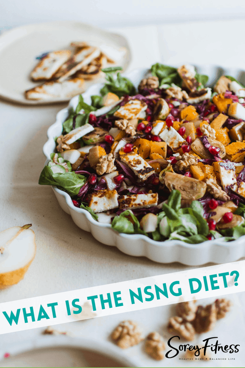 "chicken salad with text overlay that says ""what is the nsng diet?"""